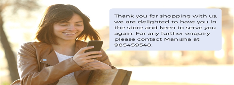 "Delight your customer with a ""Thank You"" message!"